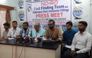 NCHRO Fact Finding Team Press Meet on Aler Encounters on 30.4.2015